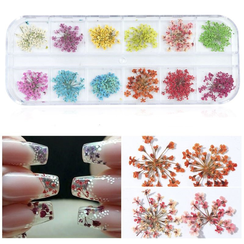 NAIL ART DRY FLOWER BY PALPASAONLINE