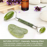 REAL JADE STONE ROLLER FOR FACE MASSAGE NATURAL SKIN CARE - PALPASA ONLINE