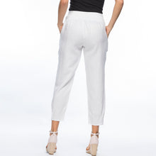 Load image into Gallery viewer, Tapered Linen Pant | White