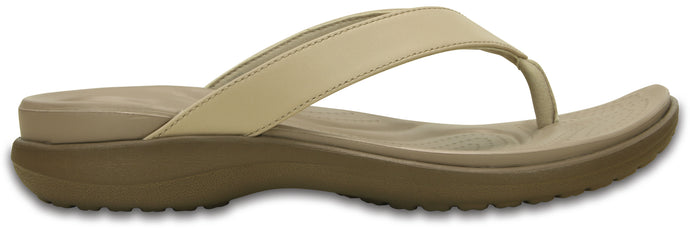 Crocs Australia Capri V Flip | Chai/Walnut | One Country Mouse Yamba