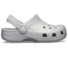 Load image into Gallery viewer, Crocs Australia Kids Classic Glitter Clog | Silver | One Country Mouse Yamba