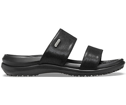 Crocs Australia Capri Dual Strap Sandal | Black | One Country Mouse Yamba