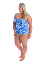 Load image into Gallery viewer, Hawaii Blue Underwire One Piece Side