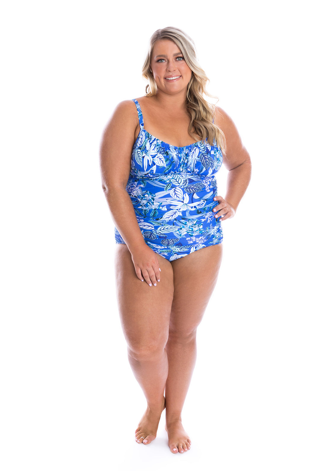Hawaii Blue Underwire One Piece Front