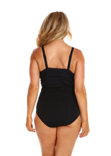 Load image into Gallery viewer, Black Honey Comb Underwire One Piece Back