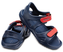 Load image into Gallery viewer, Swiftwater River Sandal Kids  | Navy/Flame