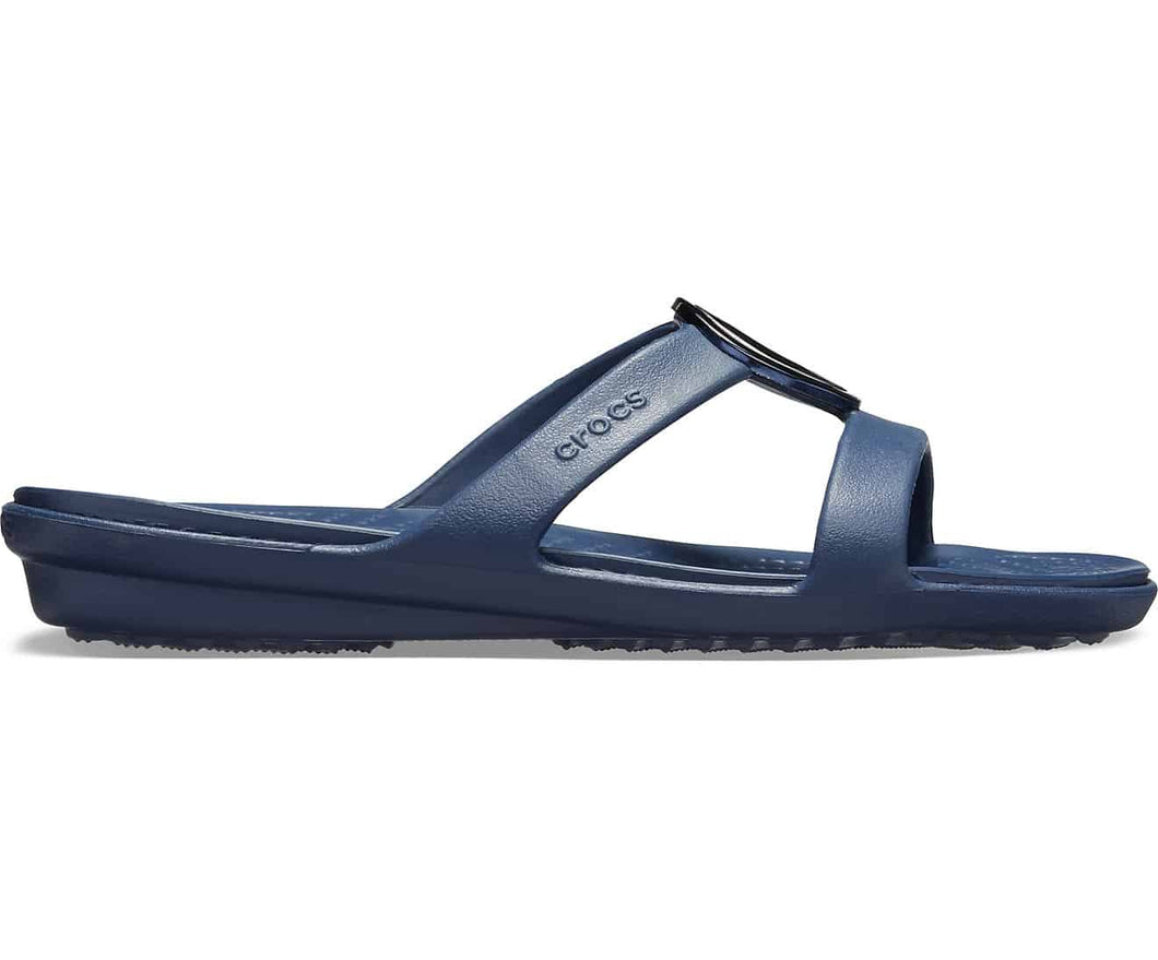 Crocs Australia Sanrah Metalblock Sandal Silver/navy One Country Mouse Yamba