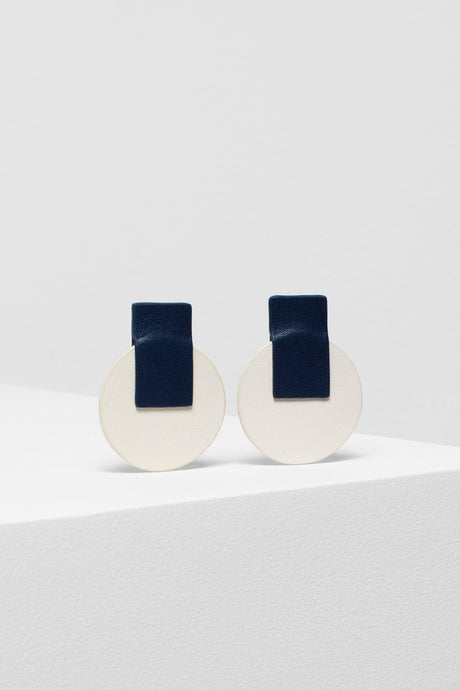 Anni earrings | Navy/Ivory