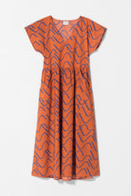 Load image into Gallery viewer, ELK THE LABEL Ollie Dress | Copper/ Cobalt One Country Mouse Yamba