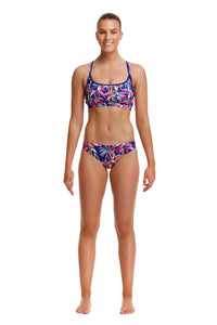 Funkita Swimwear Ladies Sports Top BamBamBoo One Country Mouse Yamba