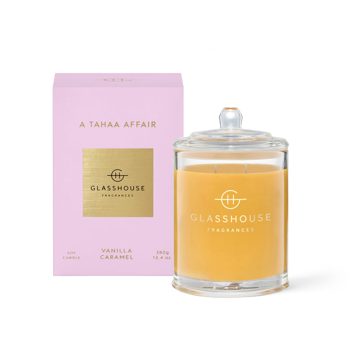 Glasshouse Candle 380g Soy Candle A tahaa Affair