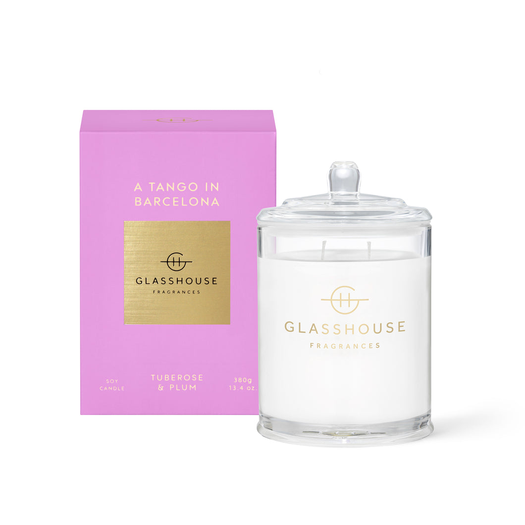 Glasshouse Candle 380g Soy Candle A tango in barcelona