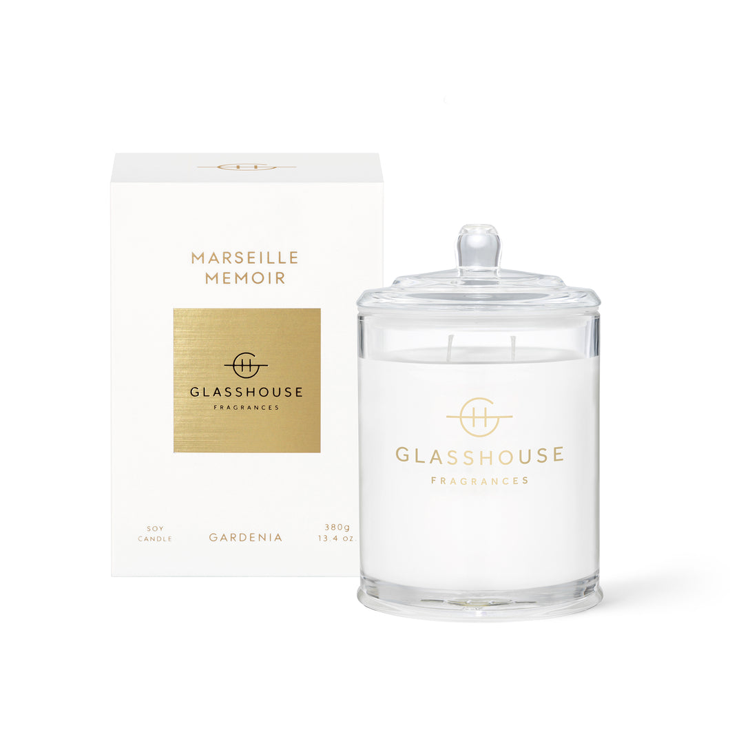 Glasshouse Candle 380g Soy Candle marseille memoir