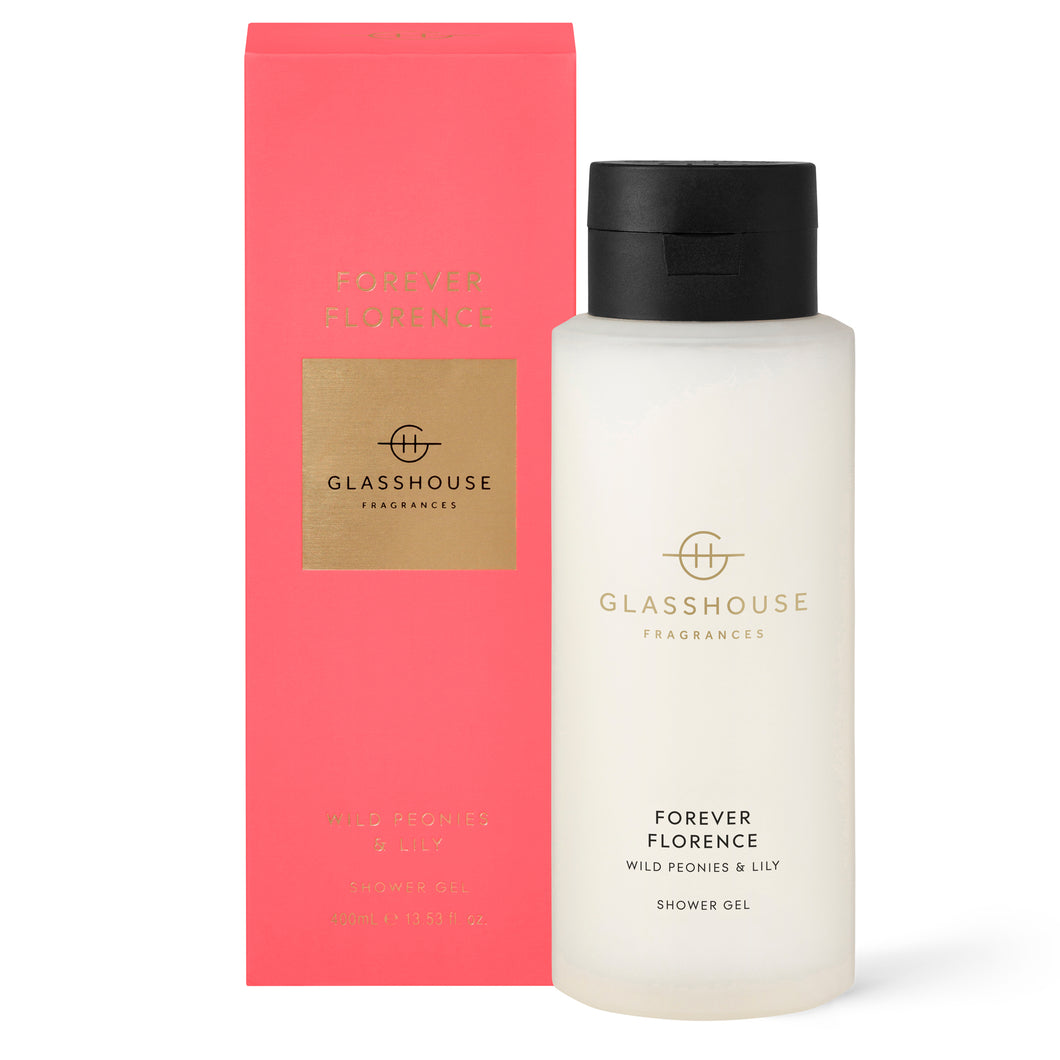 Forever Florence | 400mL Shower Gel | Wild Peonies & Lily