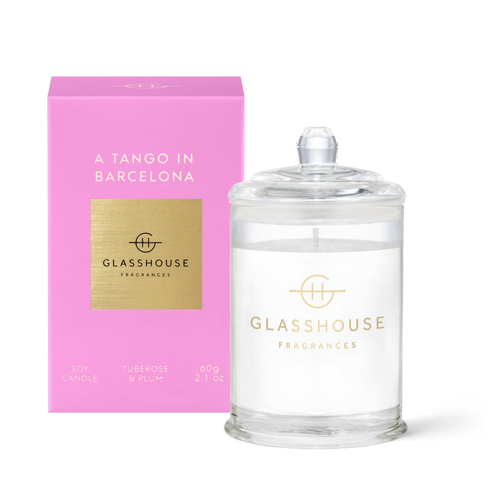 Glasshouse Candle 60g Soy Candle A Tango in barcelona