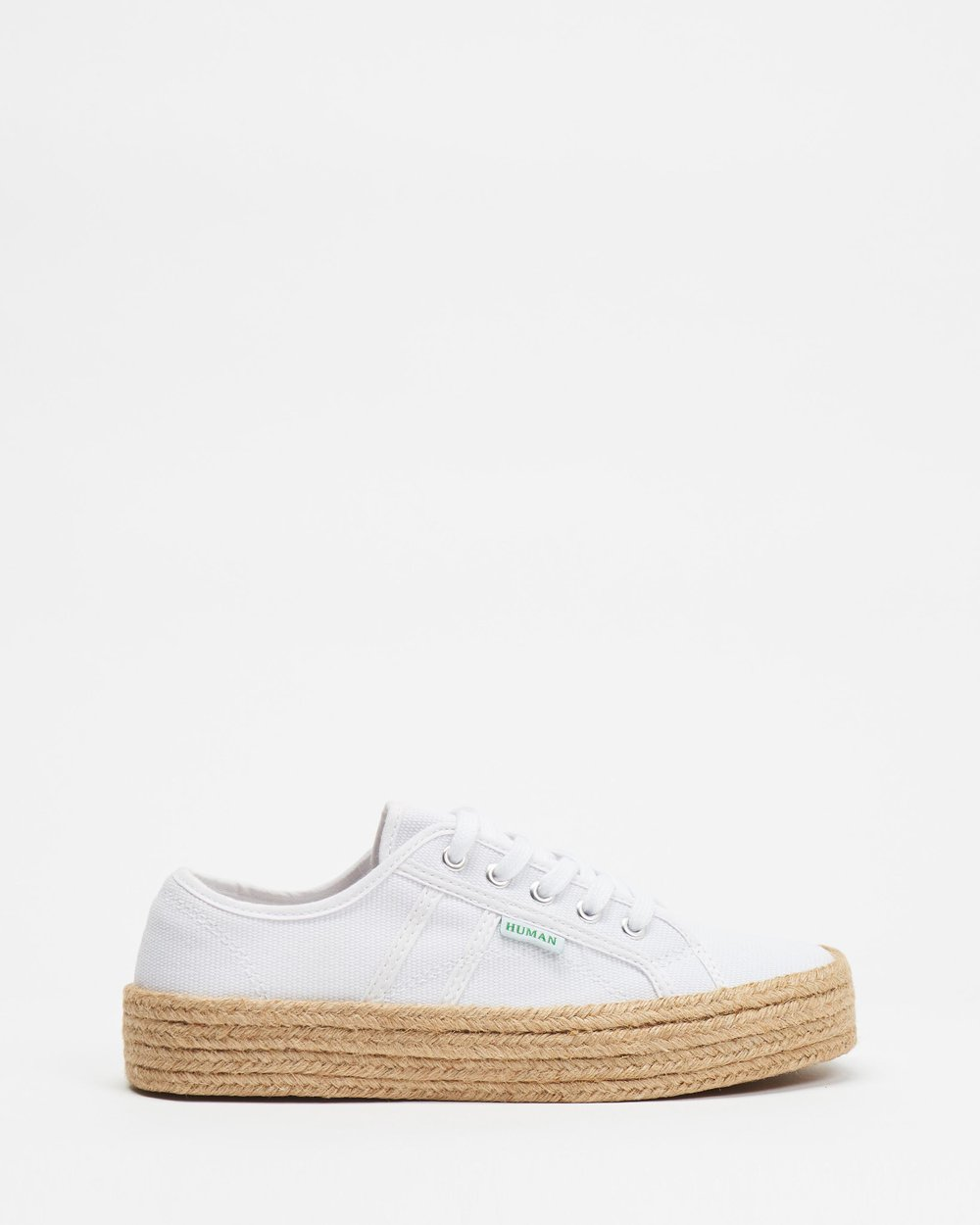 HUMAN PREMIUM Charlotte Espadrille Sneaker White Canvas One Country Mouse Yamba
