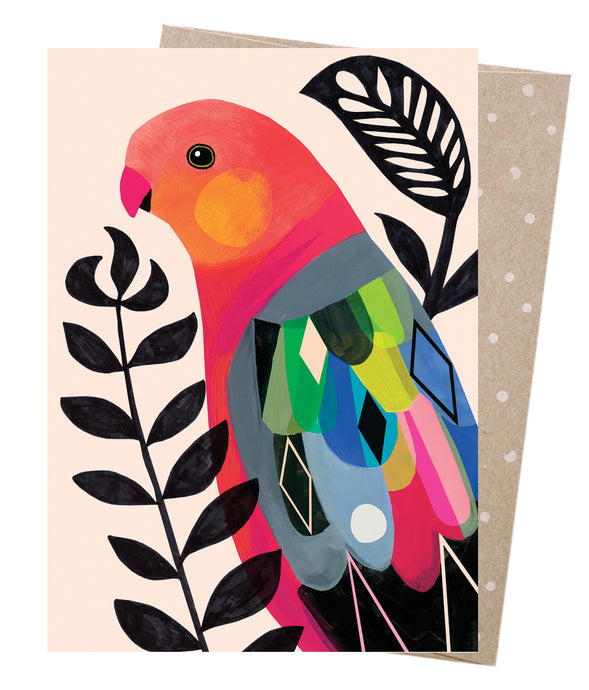 EARTH GREETING CARDS Greeting Card - King Parrot
