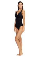 Load image into Gallery viewer, JETS CONTOUR | D/DD CUP UNDERWIRE ONE PIECE | BLACK