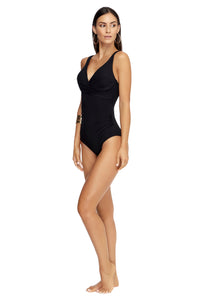 JETS CONTOUR | D/DD CUP UNDERWIRE ONE PIECE | BLACK