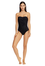 Load image into Gallery viewer, JETSET | BANDEAU ONE PIECE | BLACK