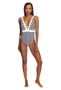 LIBERATE | PLUNGE ONE PIECE | BLACK/WHITE