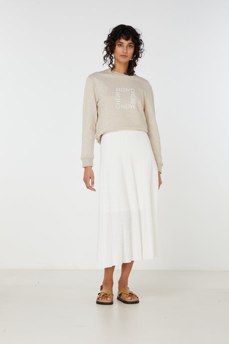 Elka Collective Raquel Knit Skirt | White