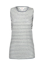 Load image into Gallery viewer, EC Linen Tank | Navy Stripe