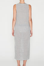 Load image into Gallery viewer, EC Linen Tank Dress - Navy Stripe