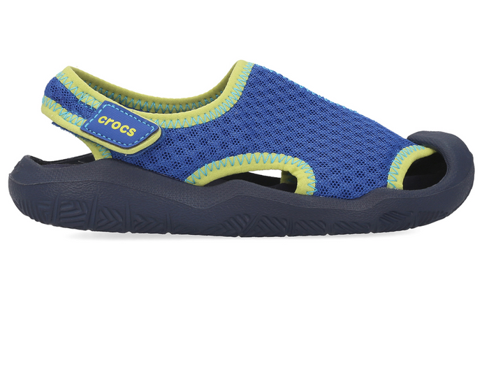 Crocs Australia Kids Swiftwater Sandal | Blue Jean/Navy One Country Mouse