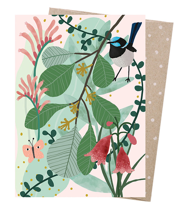 EARTH GREETINGS CARDS Greeting Card - Fairy Wren's Heath