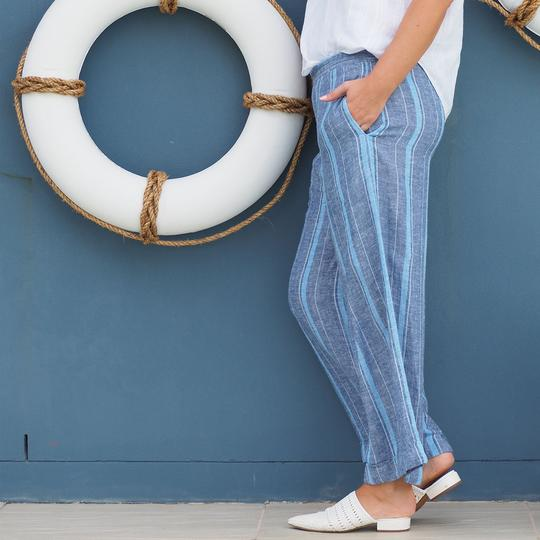Tilly Pant | Mediterranean Blue Stripe