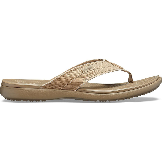 Crocs Australia Santa Cruz Canvas Flip | Khaki/Walnut One Country Mouse Yamba