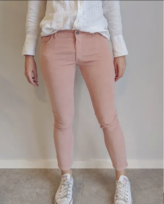 Costa Vita Purolino Alice Corduroy Jeans | Dusty Rose