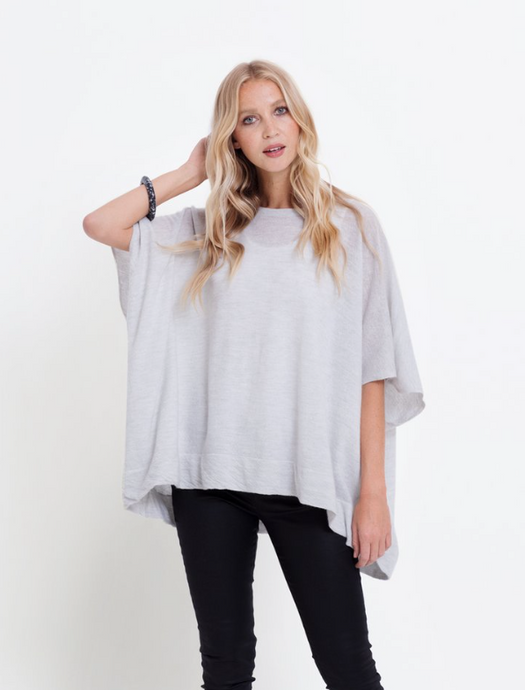 Twist Merino Poncho | Powder