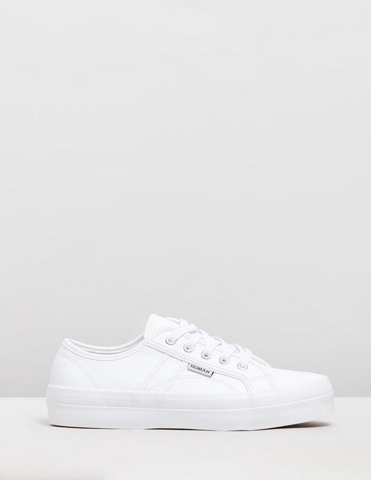 Human Shoes Cass Sneaker White Leather, Human Premium Footwear