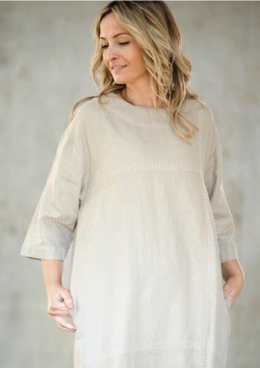 Audrey Linen Dress | Cream