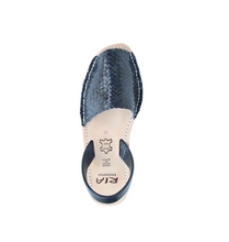 Load image into Gallery viewer, Avarcas Menorcan Sandals Fornells | Navy