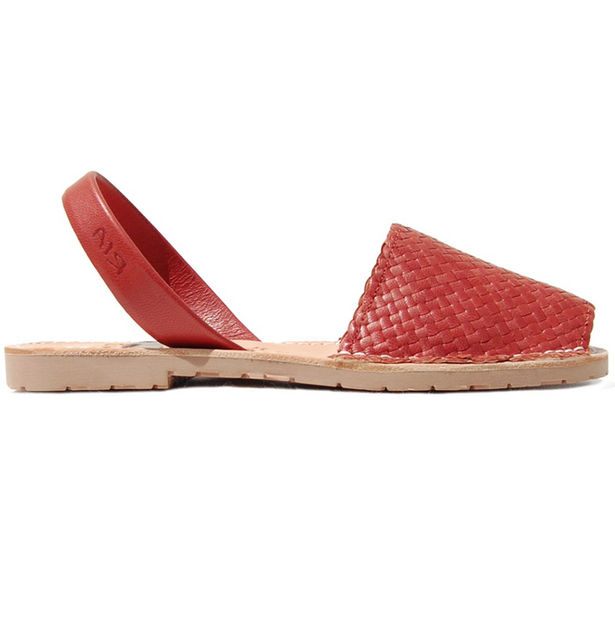 Avarcas Menorcan Sandals Fornells | Red