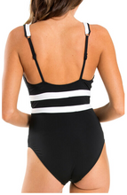 Load image into Gallery viewer, CLASSIQUE | PLUNGE ONE PIECE | BLACK/WHITE