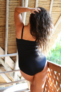 Black Honey Comb Underwire One Piece Back