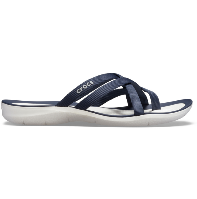 Crocs Australia Swiftwater Webbing Flip | Navy/White One Country mouse Yamba