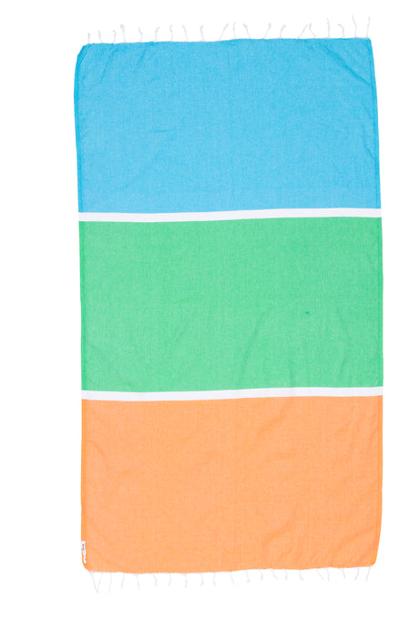 Knotty Colourblock Turkish Towel | Torquay