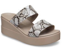Load image into Gallery viewer, Women's Crocs Brooklyn Mid Wedge Multi stucco One Country Mouse Yamba