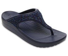Load image into Gallery viewer, Women's Crocs Sloane Embellished Flip Navy One Country Mouse Yamba