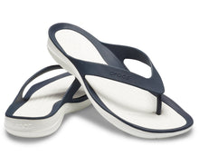 Load image into Gallery viewer, Crocs Australia Women's Swiftwater Flip | Navy/White One Country Mouse Yamba