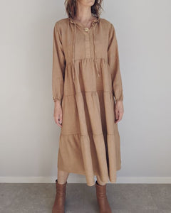 costa Vita Purolino Renee Linen Dress | Caramel