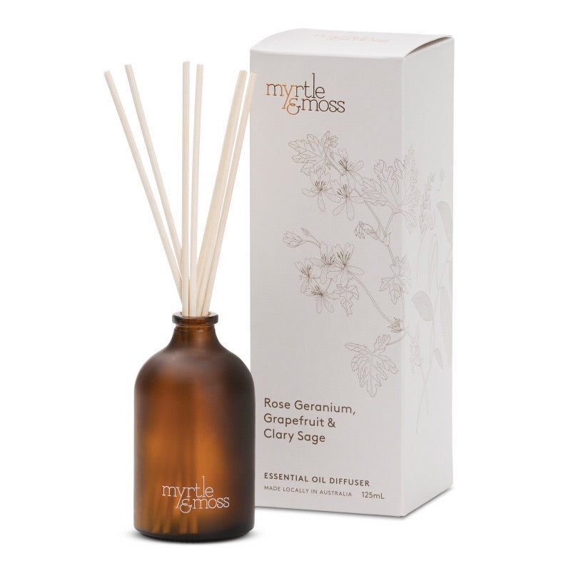 Essential Oil Diffuser | Rose Geranium, Grapefruit and Clary Sage