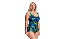 Load image into Gallery viewer, Zip Front One Piece | Midnight Marble