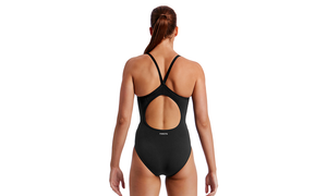 Diamond Back One Piece | Still Black Solid