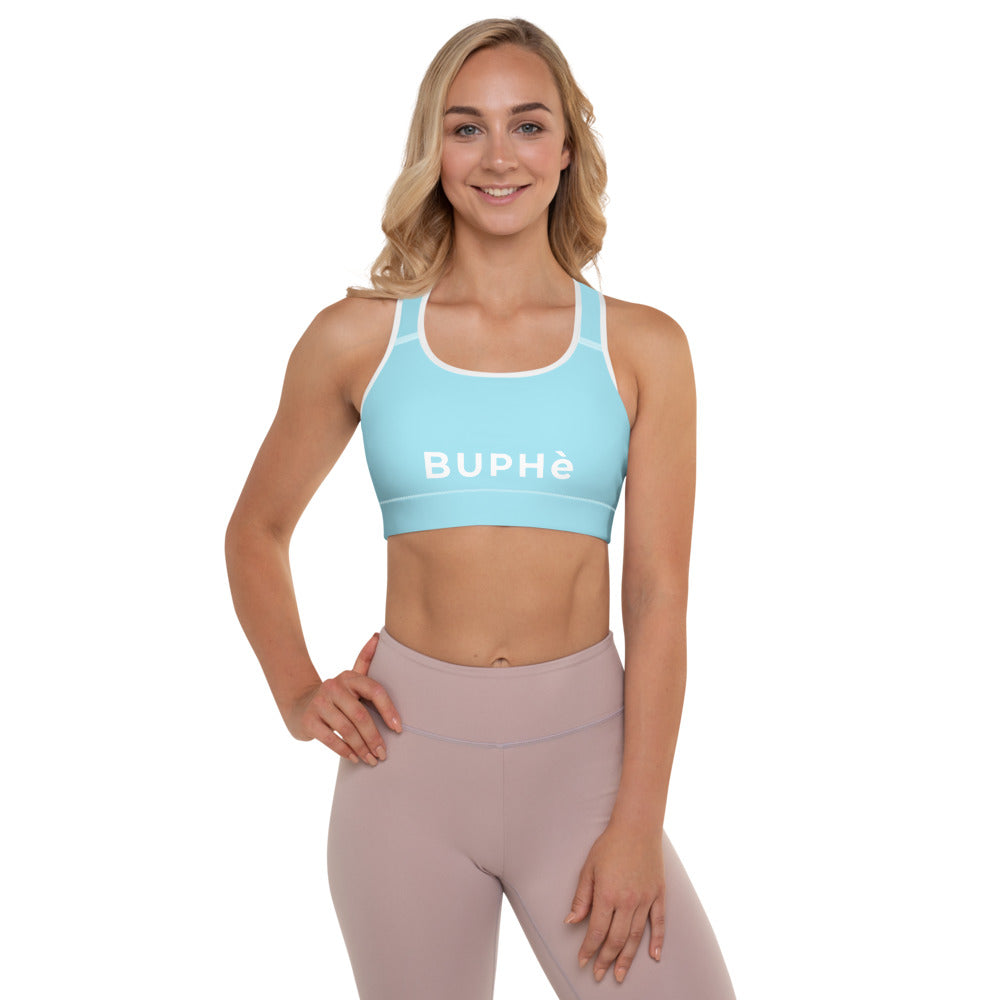 BUPHè Padded Sports Bra Blue